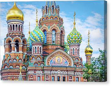 Church Of The Savior On Spilled Blood Canvas Print by Delphimages Photo Creations