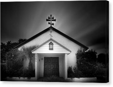 Church On A Cloudy Day Canvas Print by Mark Andrew Thomas