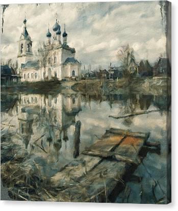 Church On River 02 Canvas Print