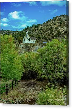 Church On The Hill Canvas Print by Robert Bales