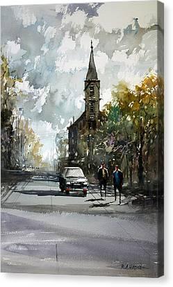 Church On The Hill Canvas Print by Ryan Radke
