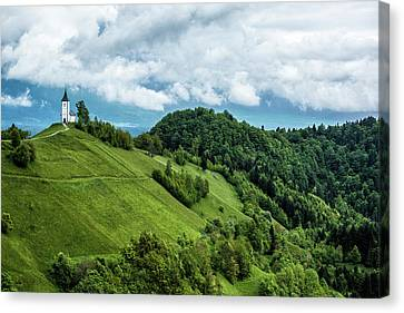 Church On The Mountain Canvas Print by Lindley Johnson