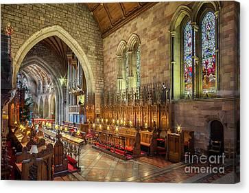 Church Organist Canvas Print by Adrian Evans