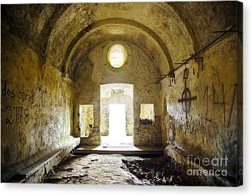 Church Ruin Canvas Print by Carlos Caetano