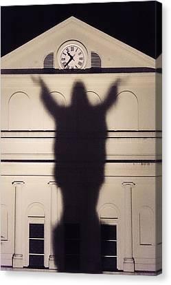 Church Shadow Canvas Print by Garry Gay