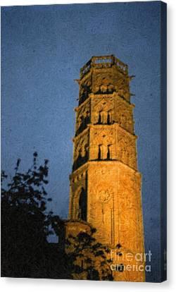 Canvas Print featuring the photograph Church Steeple by Jean Bernard Roussilhe