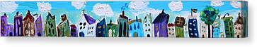 Canvas Print featuring the painting Church Street by Mary Carol Williams