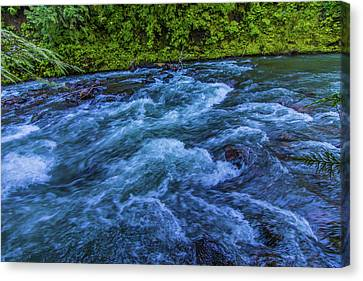 Canvas Print featuring the photograph Churning Water by Jonny D