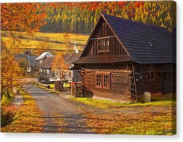 Cicmany -old Village  In Slovakia Canvas Print by Renata Vogl
