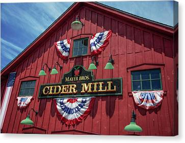 Cider Mill Canvas Print by Guy Whiteley