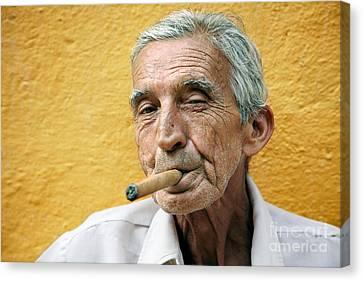 Cigar Smoking - Trinidad - Cuba Canvas Print