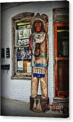 Canvas Print featuring the photograph Cigar Store Indian by Paul Ward