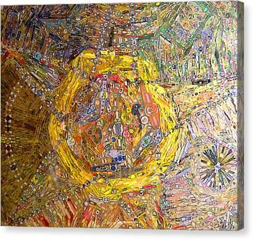 Cigar Wrapper Mandala Canvas Print by Mindy Newman