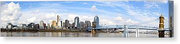 Cincinnati Panorama Canvas Print