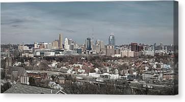 Cincinnati Panorama  Canvas Print by Scott Meyer