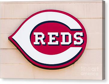 Cincinnati Reds Logo Sign Canvas Print by Paul Velgos