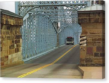 Cincinnati - Roebling Bridge 1 Canvas Print by Frank Romeo