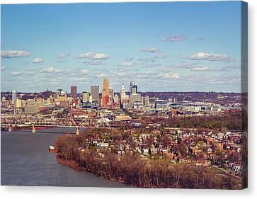 Cincinnati Skyline 2 Canvas Print by Scott Meyer