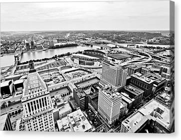 Cincinnati Skyline Aerial Canvas Print by Paul Velgos