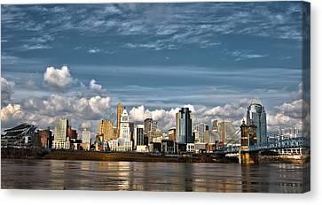Cincinnati Skyline Hdr Canvas Print