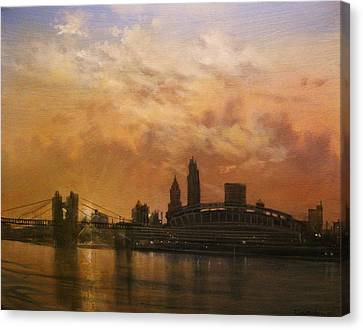 Cincinnati Skyline Canvas Print by Tom Shropshire