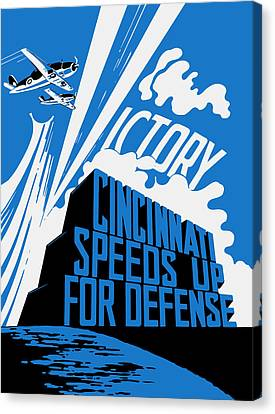 Cincinnati Speeds Up For Defense - Ww2 Canvas Print by War Is Hell Store