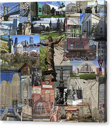 Canvas Print featuring the photograph Cincinnati's Favorite Landmarks by Robert Glover