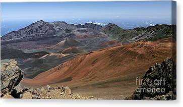 Cinder Cones And Lava Flows In The Crater Canvas Print by Frank Wicker