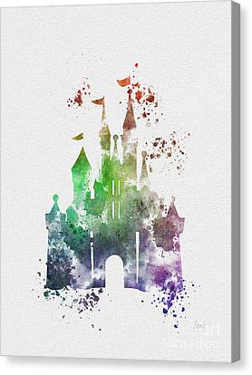 Fairy Canvas Print - Cinderella Castle 2nd Edition by Rebecca Jenkins