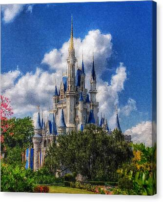 Cinderella Castle Summer Day Canvas Print by Sandy MacGowan