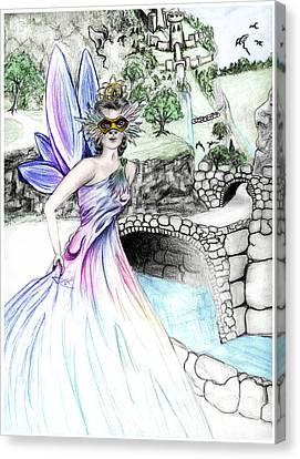 Fairytales Of Dragon Pass Castle, Costume Balls And Cinderella Canvas Print by Janice Moore