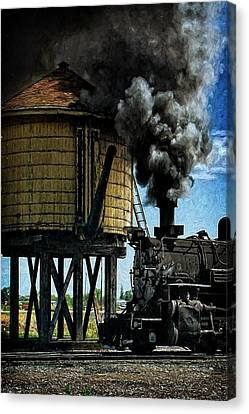 Canvas Print featuring the photograph Cinders And Water by Ken Smith