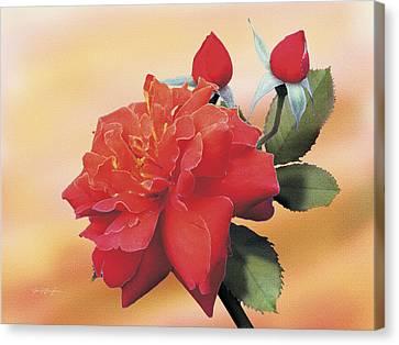 Cinnamon Roses Canvas Print by Jan Baughman