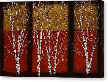 Cinque Betulle Canvas Print by Guido Borelli