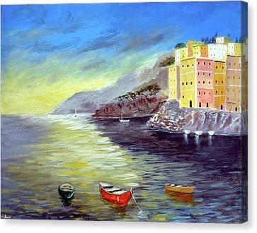 Cinque Terre Dreams Canvas Print