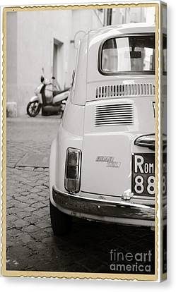 Cinquecento Black And White Canvas Print
