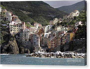 Cinqueterre From The Sea Canvas Print