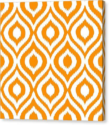 Pattern Canvas Print - Circle And Oval Ikat In White N03-p0100 by Custom Home Fashions