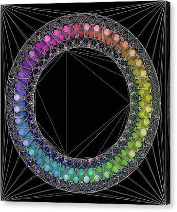 Circle Of Concinnity Canvas Print by Susan Maxwell Schmidt