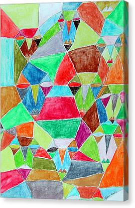 Circle Of Friends Canvas Print by Margie  Byrne
