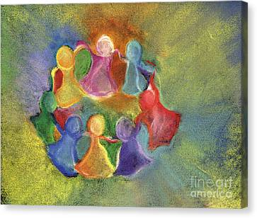Circle Of Friends Canvas Print by Susan Vannelli