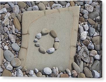 Circle Of Stones Canvas Print