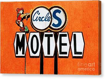 Circle S Motel Canvas Print