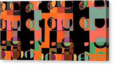 Circle Study Number 75 Canvas Print by Teodoro De La Santa