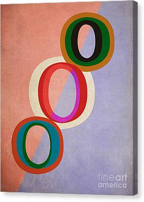 Circles Abstract Canvas Print by Edward Fielding