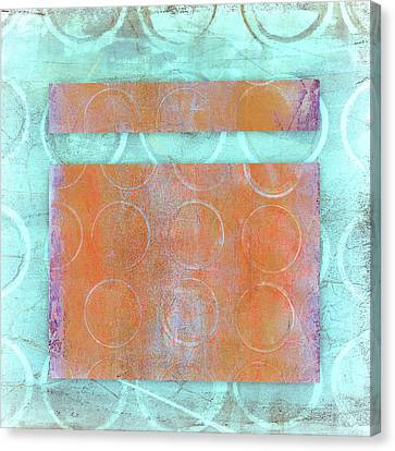 Pattern Canvas Print - Circles And Rectangles Abstract  by Carol Leigh
