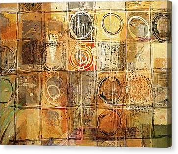Abstract Composition Canvas Print - Circles And Squares by Lutz Baar