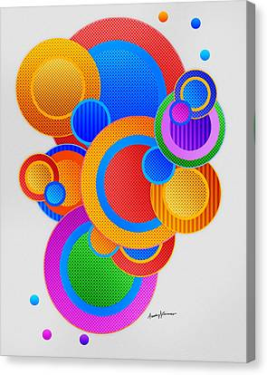 Circles Canvas Print by Anthony Caruso