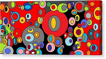 Circles Circles 3 Canvas Print by D Perry