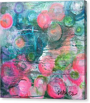 Canvas Print featuring the painting Circles For San Marco  by Laurie Maves ART